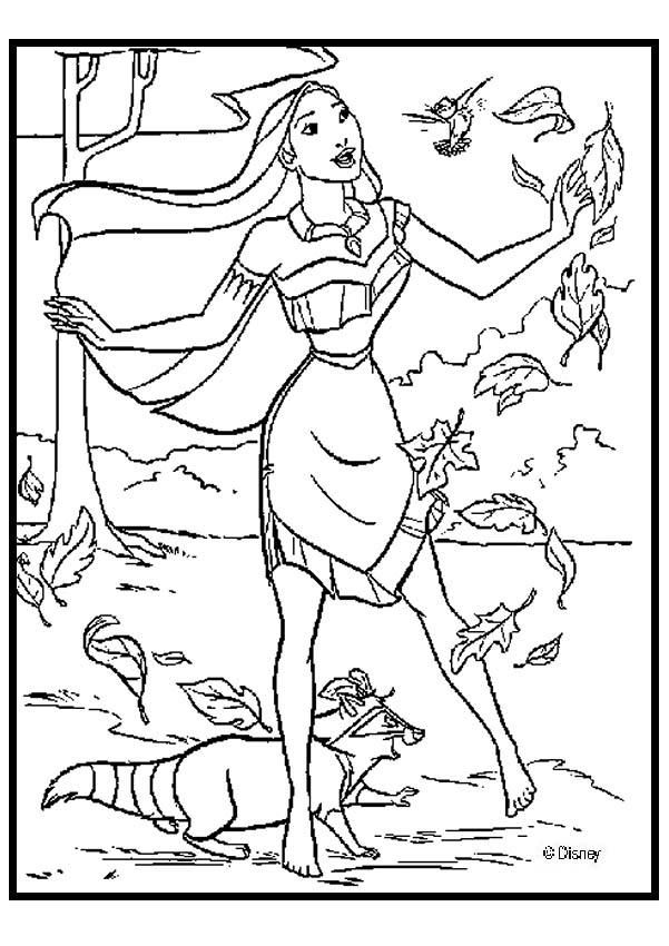 pocahontas colouring pages