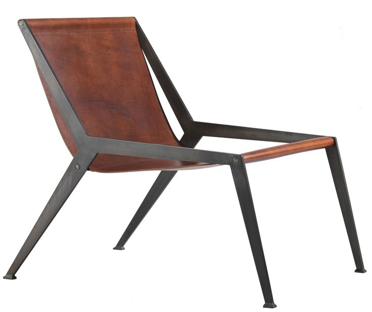 Berlin Easy Chair   Contemporary, Industrial, Transitional, MidCentury  Modern, Metal, Leather, Upholstery  Fabric, Lounge Chair by Tom Faulkner