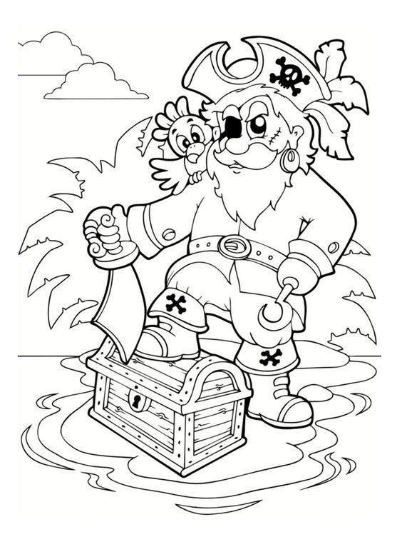 Coloriage pirate : 25 dessins à imprimer | Coloriage ...