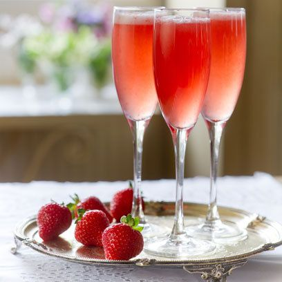 Sweet Eve Cocktail: Prosecco, Campari and Strawberries Mmmmmm :):)