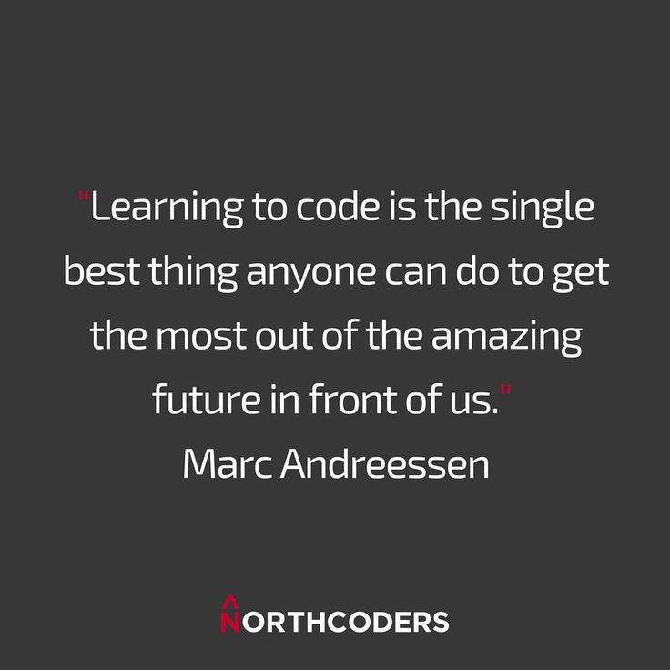 We love this quote from Marc Andreessen! . What are you waiting for? . Follow the link in the bio to learn where to start. #learntocode