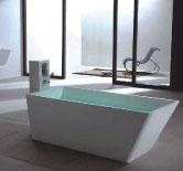 Description: Freestanding bathtub Material:Solid Surface white matt Code:100 6505 Model:SolidFENG Size:170 x 73 x 60 (h )cm