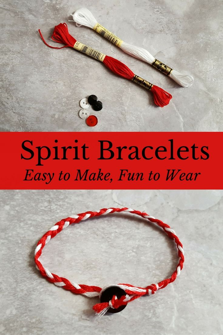 Have fun with these easy team spirit bracelets, and wear them to support your favorite team or school.
