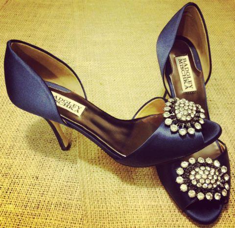 Full shot of my wedding shoes <3  beautiful blue shoes