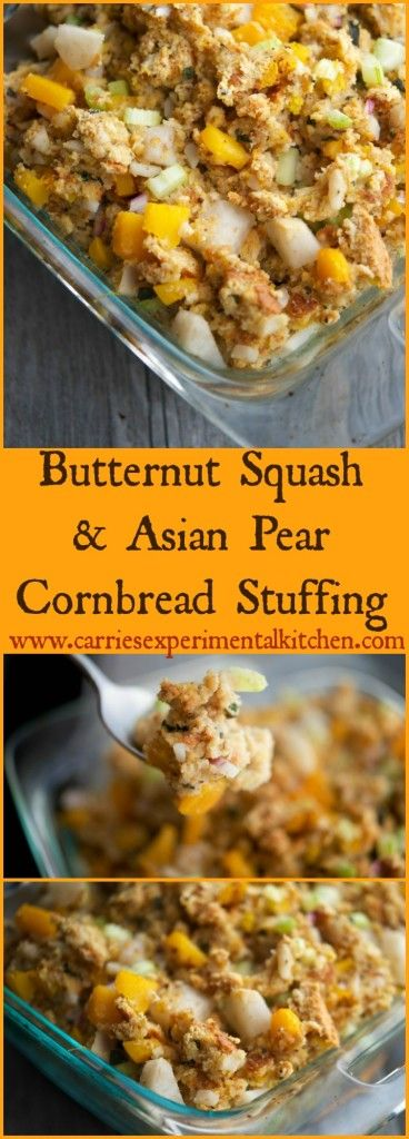 Butternut Squash & Asian Pear Cornbread Stuffing