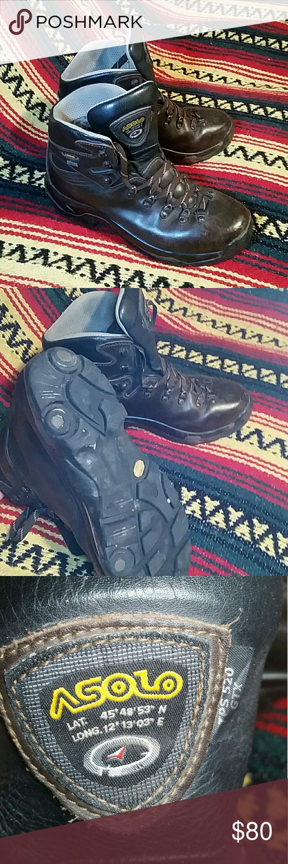 Asolo High-top Hiking Boots TPS 520 GTX Men's hiking boot in size 10.5. Asolo high top, leather with gortex. Used but Good to great condition, plenty of life still left in these guys. Selling because my boyfriend hoards more shoes than me, haha! Any questions, please ask! Asolo Shoes Boots