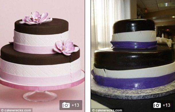Ожидание и реальность: самые неудачные свадебные торты