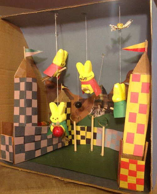Potter Peeps! (Quidditch pitch peeps diorama) - OCCASIONS AND HOLIDAYS