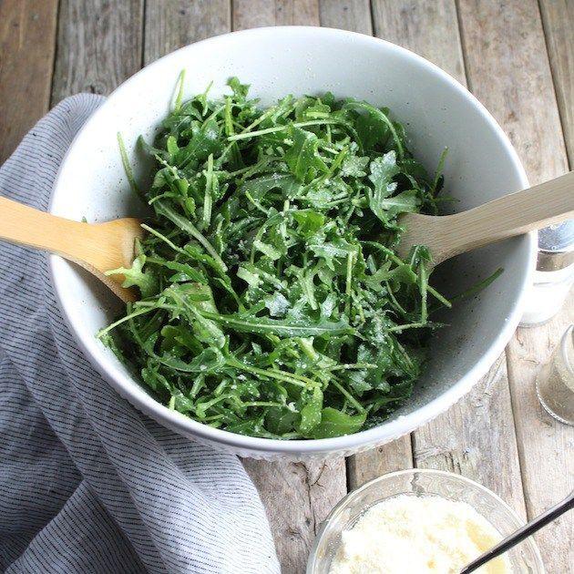 Arugula Salad With Olive Oil, Lemon & Parmesan Cheese | Taste And See