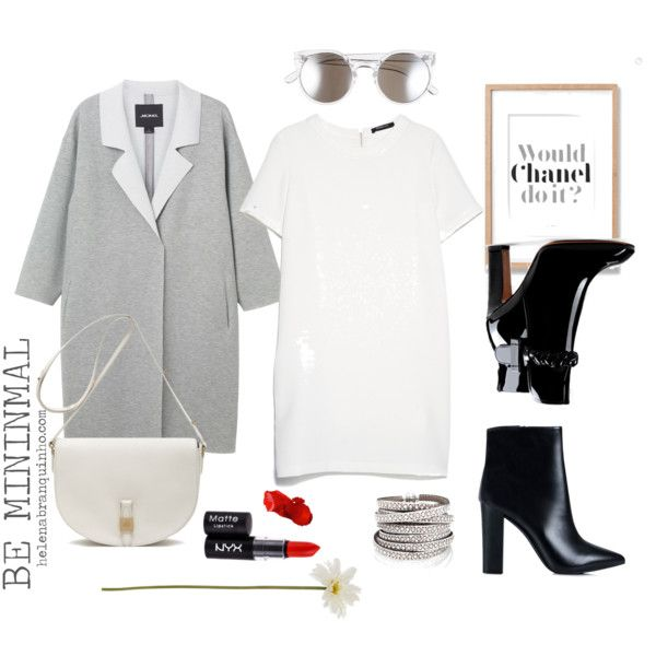 Be minimal by helenabranquinho on Polyvore featuring moda, MANGO, Monki, Valentino, Nly Shoes, Mulberry, Tildon, NYX, Linea and Chanel