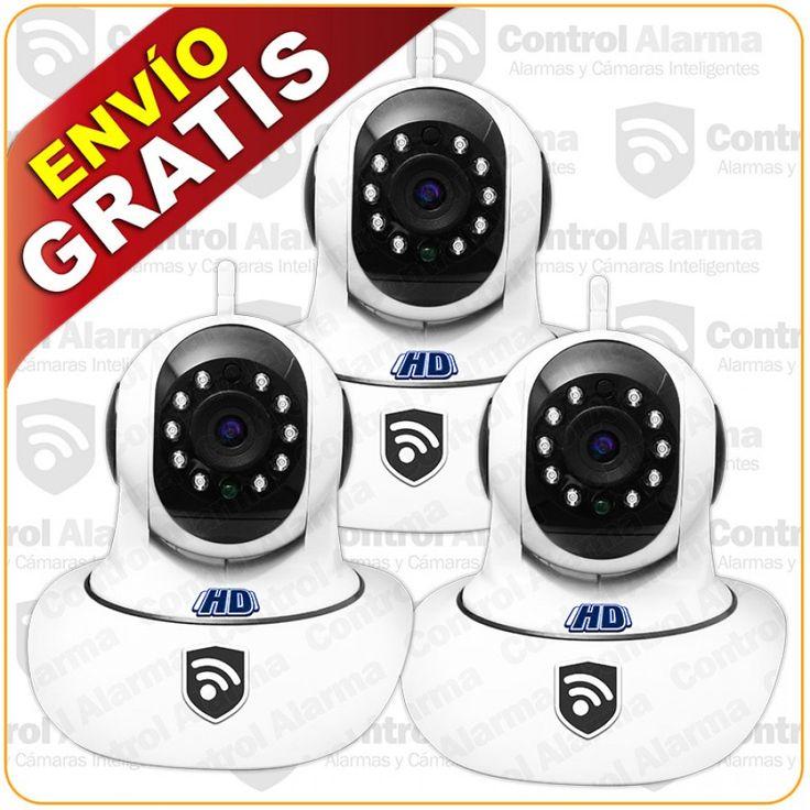 Detalles del producto Características:  - Visión Nocturna - Resolución HD 1 MPX - Ir Cut ajustable - Encriptación y acceso seguro - Compresión Video H.264 - Notificación movimiento detectado (captura de pantalla) - WiFI - Robótica - Control a distancia - Micrófono y Altavoz incorporado  Contenido que incluye el paquete:  Kit 3 Cámaras Ip Robotica  Cada Cámara Incluye: 1 Regulador Usb 5v/1Ah 1 Base para montar cámara en la pared  Herramientas de configuración y lo necesario para su…
