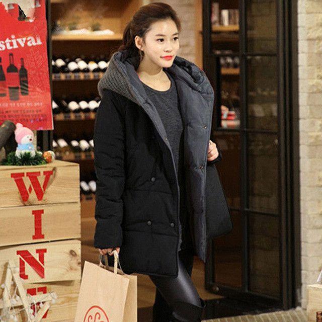 2016 New Oversized Coats Casual Parkas Winter Jacket Women Hooded Wadded Padded Jacket Female Maxi Coat Loose Plus Size Winter C