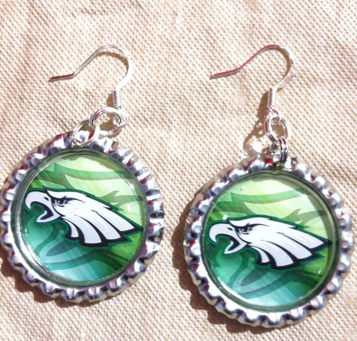 Philadelphia Eagles earrings from my Etsy shop https://www.etsy.com/listing/115281343/philadelphia-eagles-earrings #PhiladelphiaEagles