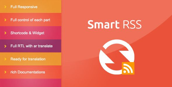 SmartRSS   http://codecanyon.net/item/smartrss/7240755?ref=damiamio        For Demo   Username : demo  Password : demo     The Easiest Way To work with RSS Feeds in WordPress.    SmartRSS Plugin is the best way to work with your favorite RSS feeds. with SmartRS you can save, edit, manage or delete every single item in RSS feed.   Save RSS as posts  SmartRSS saves your Rss items as posts in wordpress, so it makes you able to do what you want with your items. all that done in a new & clean…