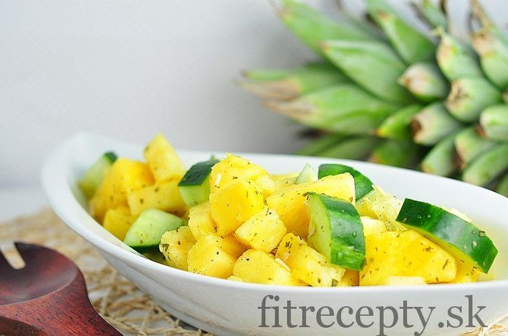 Svieži ananásovo-uhorkový šalát - FitRecepty