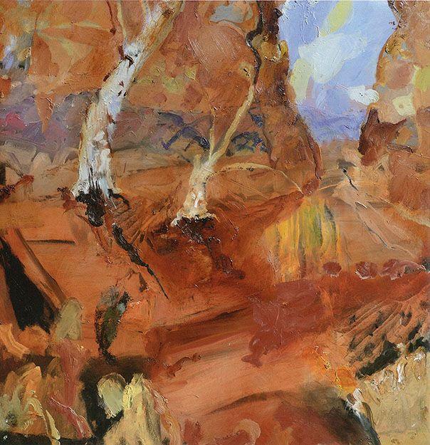 © Luke Sciberras ~ Heavitree Gap NT ~ 2013 oil on board at Tim Olsen Gallery Sydney Australia