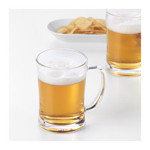 MJÖD Beer mug  - IKEa  one for each guest - add a label or tag and they use it for the evening?