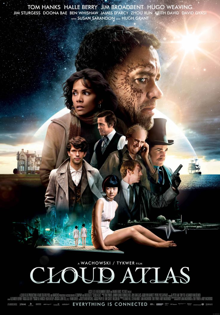 """Cloud Atlas is a 2012 German drama and science fiction film written, produced and directed by The Wachowskis and Tom Tykwer. Adapted from the 2004 novel Cloud Atlas by David Mitchell, the film features multiple plot-lines set across six different eras. The official synopsis for Cloud Atlas describes the film as: """"An exploration of how the actions of individual lives impact one another in the past, present and future..."""""""