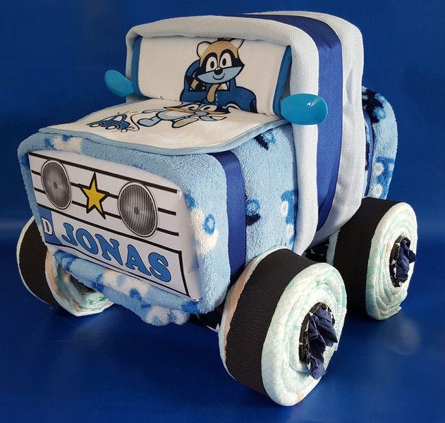 ♥★+Windel-Auto+in+Blau+★♥+von+Geschenkeshop+Kreative+Pfötchen+auf+DaWanda.com