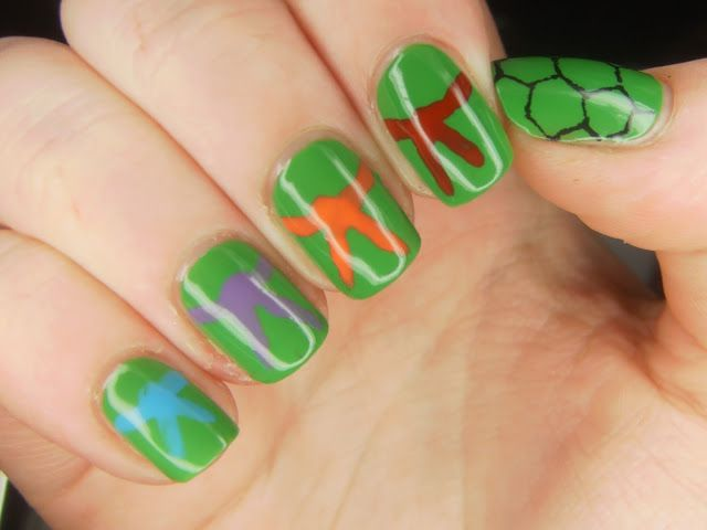 tmnt nail art | ... power yes it s teenage mutant ninja turtles fun fact here in the uk