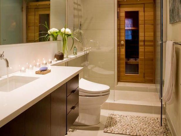 The walk in shower has a state-of-the-art temperature controlled showerhead, while, hidden beyond the sandblasted door in the shower itself is a hidden infra-red sauna