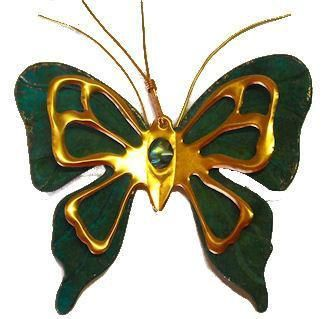 Copper Butterfly Southwestern Christmas Ornament