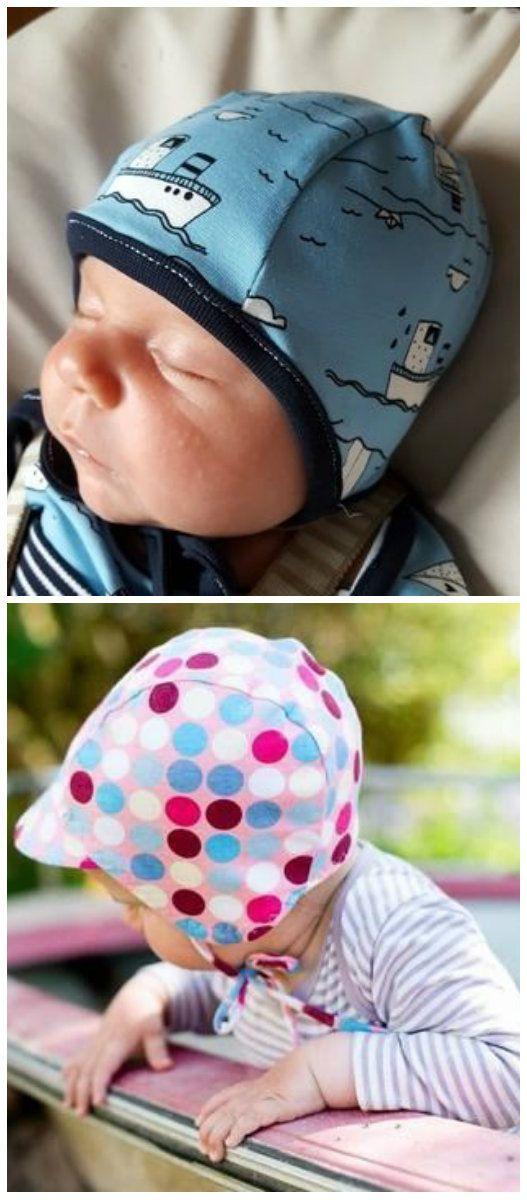 Süße Mütze für Babys und Kinder - Schnittmuster und Nähanleitung via Makerist.de