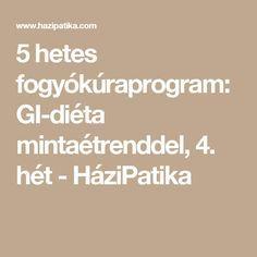 5 hetes fogyókúraprogram: GI-diéta mintaétrenddel, 4. hét - HáziPatika