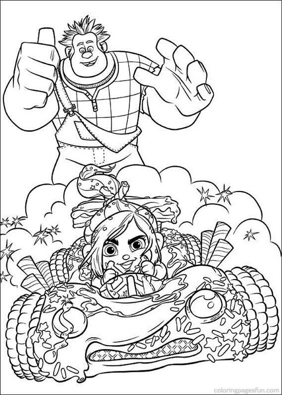 65 best Disney Wreck it Ralf coloring pages Disney images ...