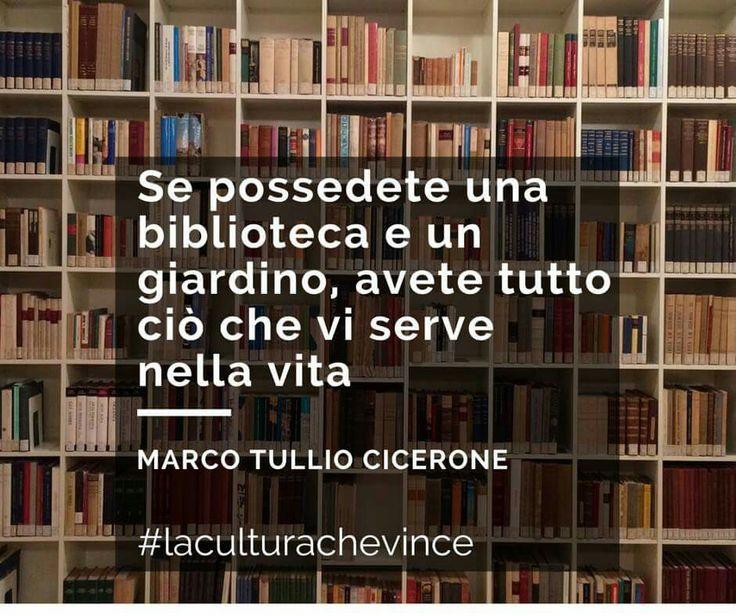 """Buona giornata a tutti! ❤  """"Se possedete una biblioteca e un giardino, avete tutto ciò che vi serve."""" - Marco Tullio Cicerone - #libriovunque #Libro #libreria #AmoLeggere #books #booklover"""
