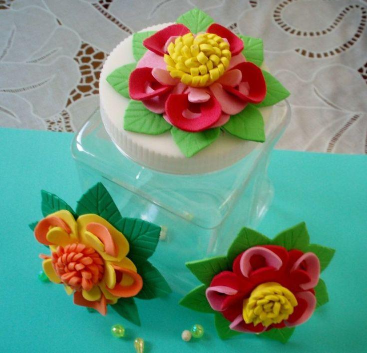 Flores de goma eva para decorar