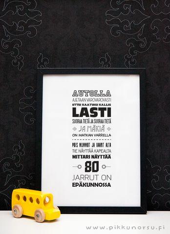 Julisteet ja kortit - Autolaulu - Pikkunorsu 4,20euroa. koko 12x17cm