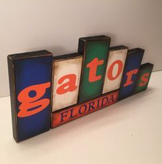 Gators Blocks - University of Florida Gators - Sign Word Blocks - Wooden Block Set