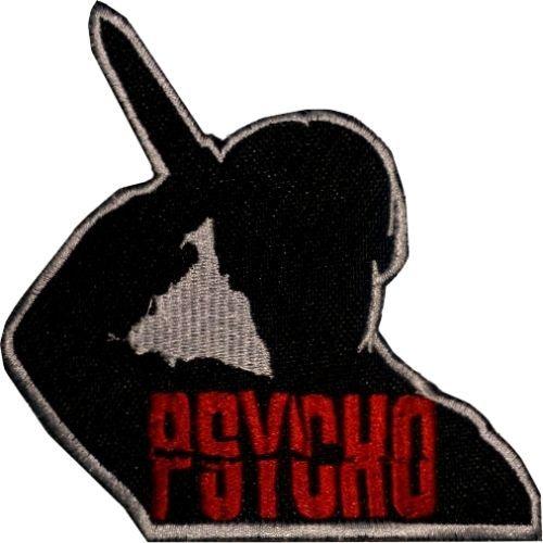 Psycho-Logotipo-Bordado-Patch-Filme-De-Terror-Faca-Imagem-Alfred-Hitchcock