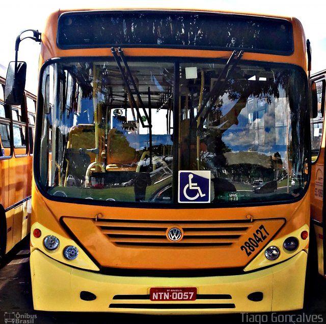 Ônibus da empresa Rota do Sol Turismo, carro 280427, carroceria Comil Svelto 2008, chassi Volkswagen 17.230 EOD. Foto na cidade de Brasília-DF por Tiago Gonçalves, publicada em 04/04/2016 04:20:01.