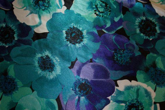 Multi-Color Floral Satin Charmeuse Print 2 by FabricsUniverse