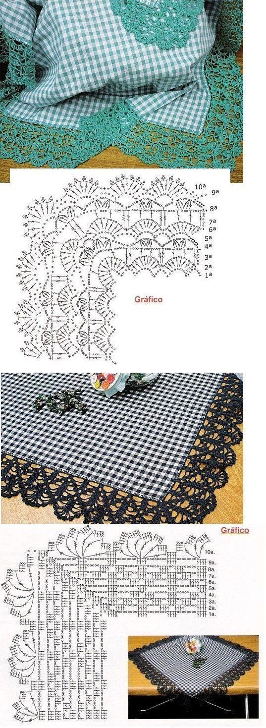 Bicos de Crochê - 47 com Gráficos e Passo a Passo
