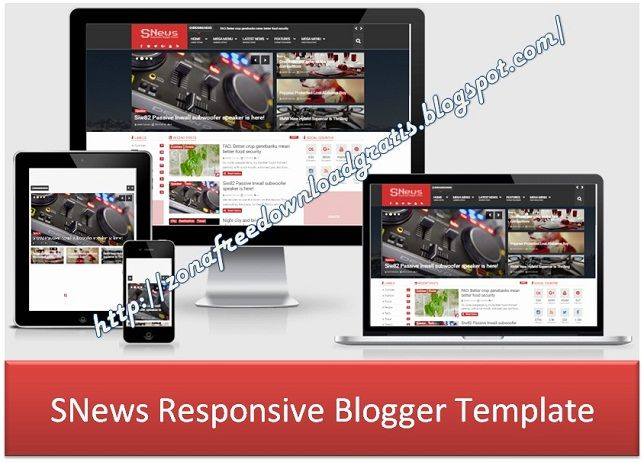 SNews Responsive Blogger Template