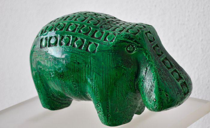 Aldo Londi für Bitossi - Grünes Nilpferd
