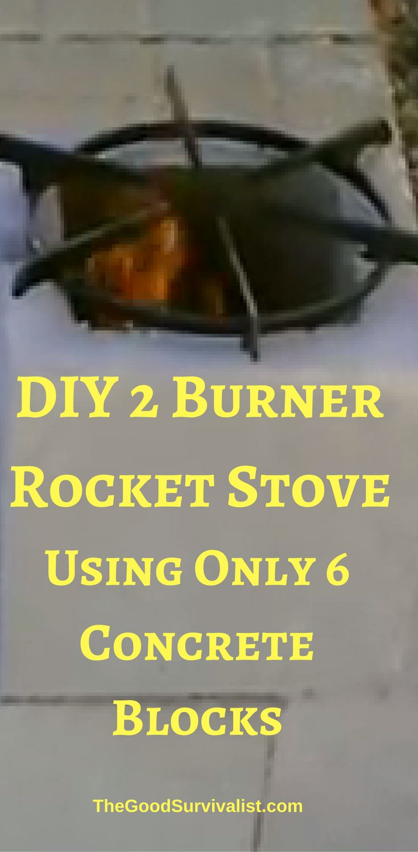 1000 ideas about concrete blocks on pinterest yard for Decorative rocket stove