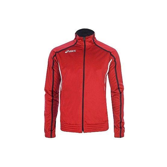 Melegítő felső Asics Jacket Honest piros,fehér unisex M