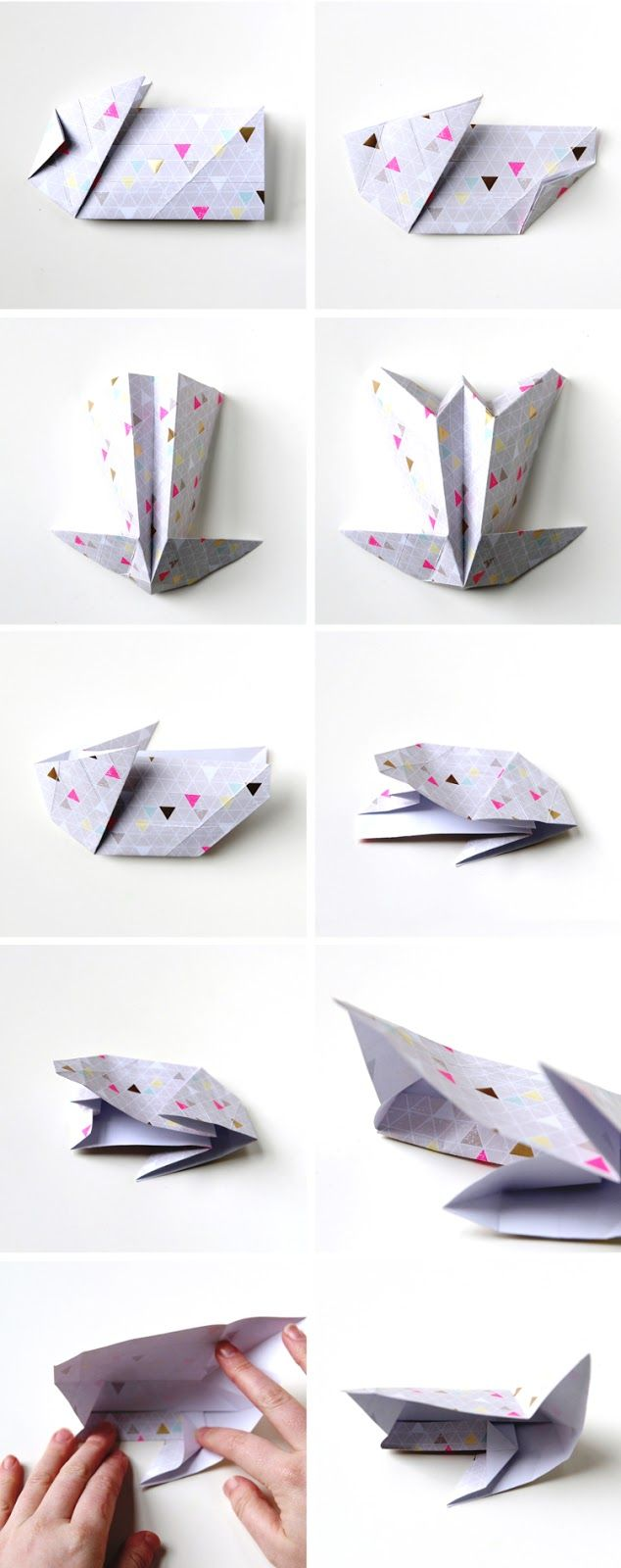 DIY Origami Easter Bunny Baskets // How-To, Part 3