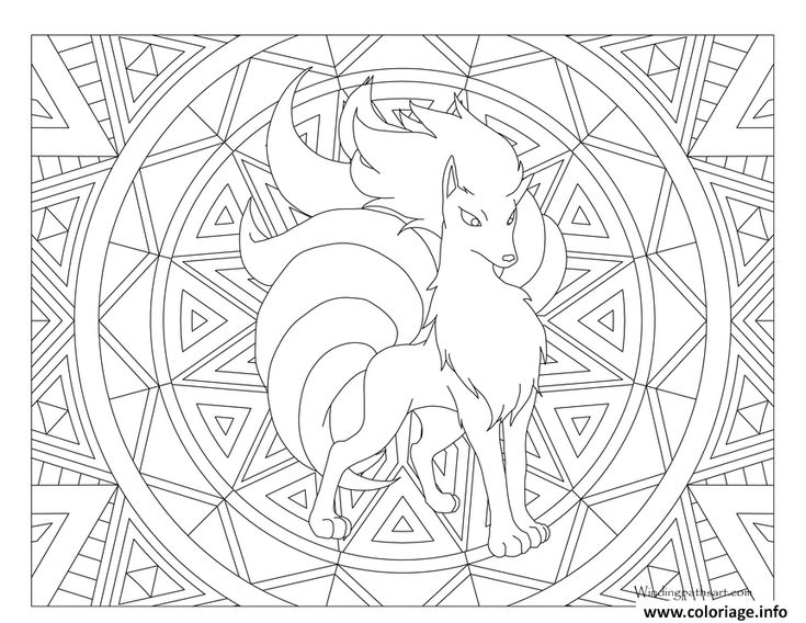 tauros pokemon coloring page