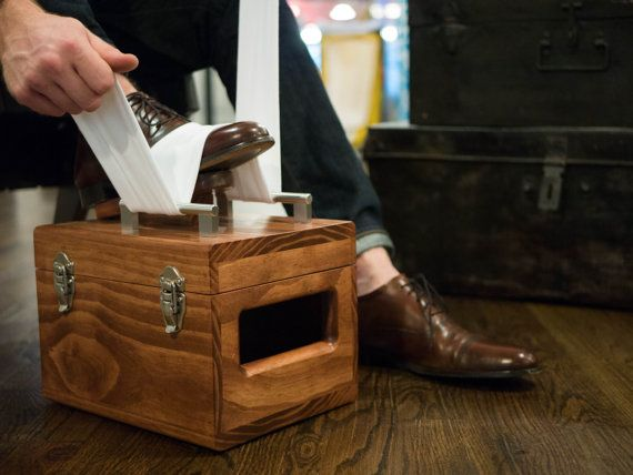Pioneer Shoe Shine Box // Shoe Shine Kit by AmericanShineCo
