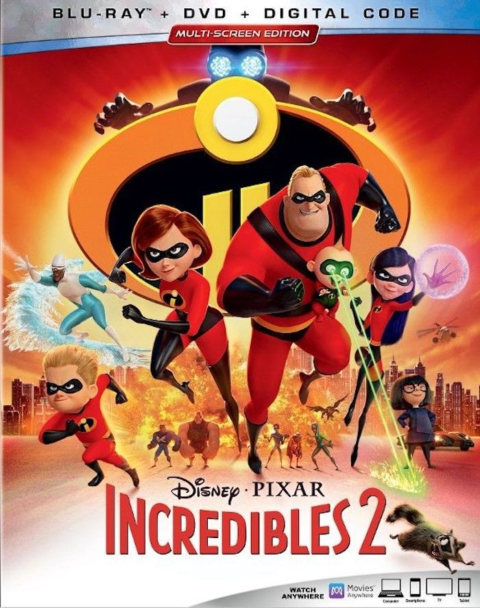 Fun Facts About Incredibles 2 On Blu Ray Dvd And On Demand Release Disney Incredibles Family Movies The Incredibles
