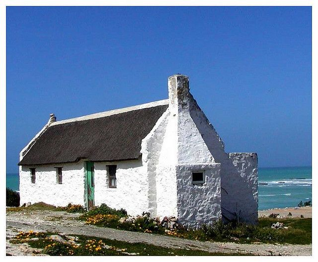 white washed fisherman's cottage, Eastern Cape SA