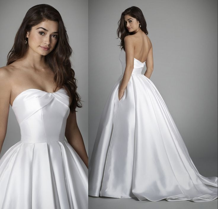 Cheap Simple Ball Gown Wedding Dress 2017 Pleat Sweetheart Sleeveless Vestido De Noiva Customize Plus Size Satin Bridal Gowns-in Wedding Dresses from Weddings & Events on Aliexpress.com | Alibaba Group