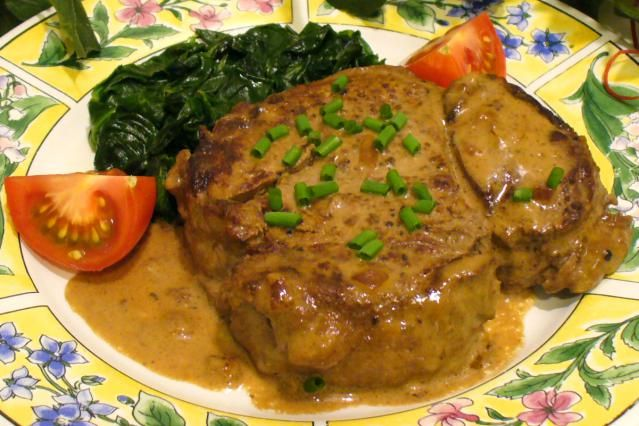 Garlic, Mustard, And Wine Create A Fast, Easy Sauce For Filet Mignon: Filet Mignon with Garlic Mustard Sauce Recipe
