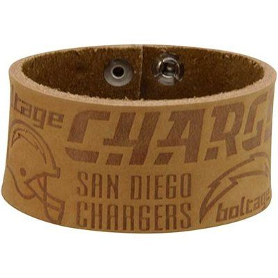 San Diego Chargers Crazy Horse Leather Cuff Bracelet