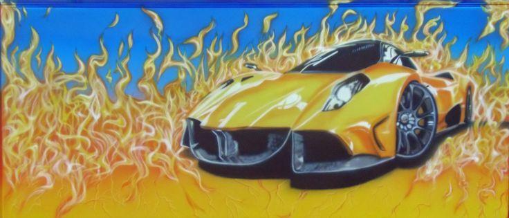 auto nel fuoco